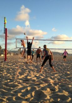 Beach Volleyball in Hermosa Beach